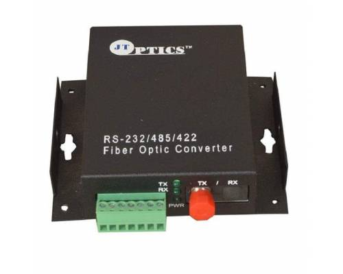 Serial data rs485 rs422 rs232 to single mode optical fiber media converter 20km - transmitter and receiver
