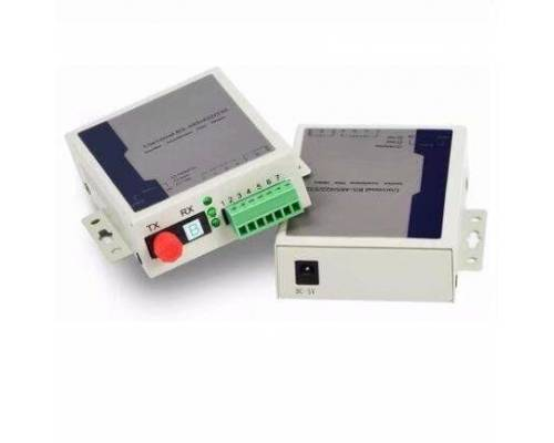 rs485 serial data transmitter and receiver over single mode single optical fiber, sc, 1310nm, 20km Pair