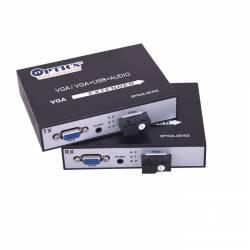Vga Video Transmitter and Receiver Over Single Mode Optical Fiber Upto 10Km, Single fiber, SM, 1080p, Sc, 1310nm, 10km Pair