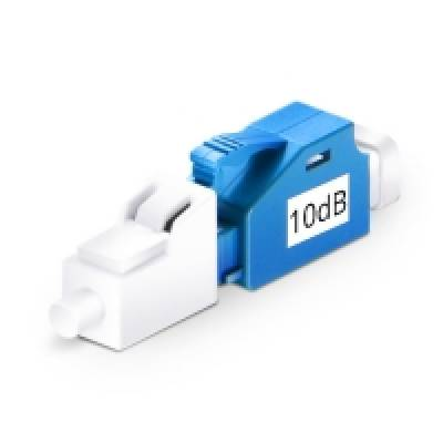 10dB LC UPC MALE TO FEMALE SINGLE MODE FIXED ATTENUATOR
