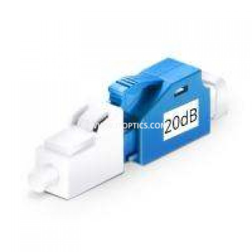 20dB LC UPC MALE TO FEMALE SINGLE MODE FIXED ATTENUATOR