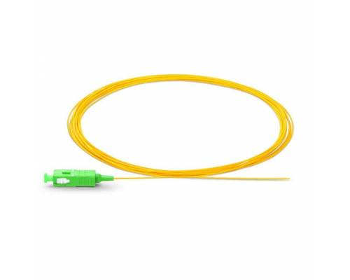 Sc apc single mode optical fiber pigtail tight buffer 900 micron or sc apc ofc pigtail sm sx