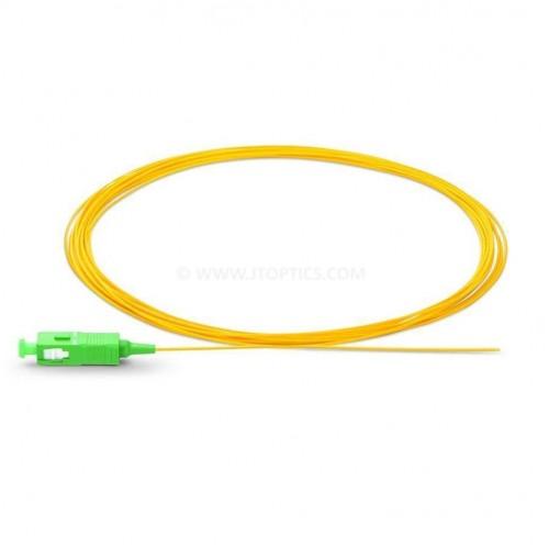 Sc apc single mode optical fiber pigtail tight buffer 900 micron or sc apc ofc pigtail sm sx