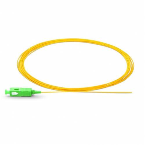 Sc apc single mode optical fiber pigtail tight buffer 900 micron