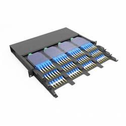 144 Fiber 1U Rack Mount Ultra Hd Fms Fiber Enclosure, Hold Upto 12 Ultra Hd Lgx Mpo Mtp Cassettes, Unloaded
