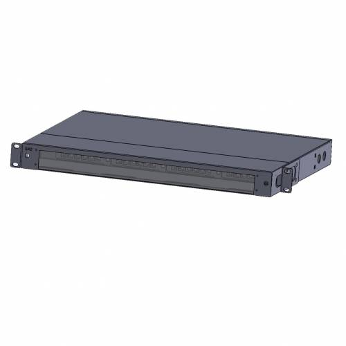 1u 72 fiber rack mountable hd odf for mpo/mtp-lc cassatte with glass cover