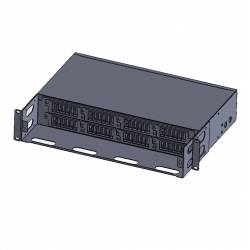 2u 144 fiber rack mountable hd odf for mpo/mtp-lc cassatte with glass cover