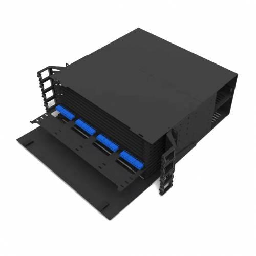 576 Fiber 4U Rack Mount Ultra Hd Fms Fiber Enclosure, Hold Upto 48 Ultra Hd Lgx Mpo Mtp Cassettes, Unloaded JTMPFDHX4 High Density LIU