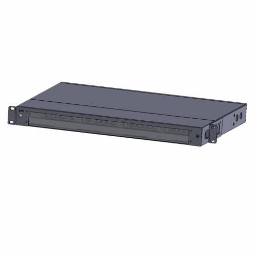 72 Fiber 1U Rack Mount Hd Fms Fiber Enclosure With Glass Cover, Hold Upto 4 Hd Lgx Mpo Mtp Cassettes, Unloaded JTMPFDSF1 High Density LIU
