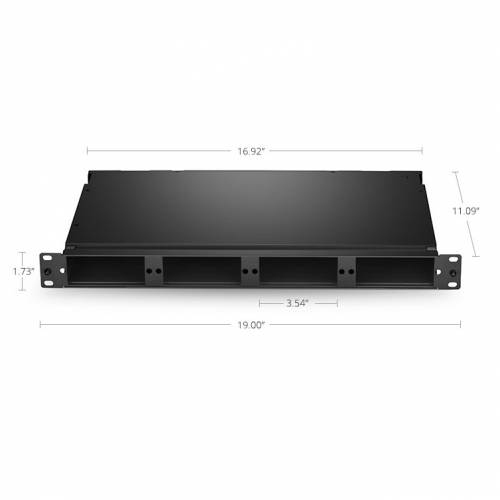 96 fiber 1u rack mount hd fms fixed type unloaded, holds up to 4 x hd cassettes