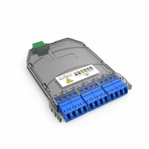 Uhd 12f Mpo Mtp Mm Lgx Cassette Box, 12 Fibers Mpo Male to 6 x Lc Dx Multimode, Plug and Play for Ultra High Density Enclosure Panel JTMPM312MOSMLCPA High Density LIU