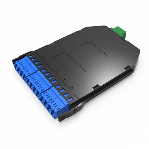 Uhd 12f Mpo Mtp Sm Lgx Cassette Box, 12 Fibers Mpo Male to 6 x Lc Dx Single Mode, Plug and Play for Ultra High Density Enclosure Panel JTMPS212MOSMLCPA High Density LIU