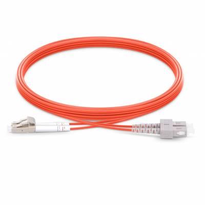 SC UPC LC UPC  MULTIMODE OM1 DUPLEX PVC PREMIUM PATCH CABLE