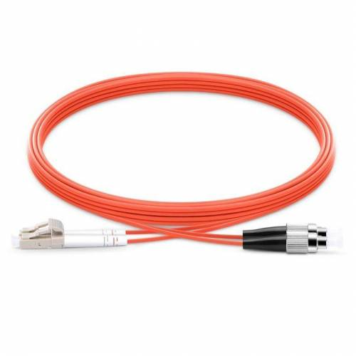 Fc Lc Mm Dx Ofc Patch Cord, Fc Pc Lc Pc Multimode Om1 Duplex Pvc 2Mm Optical Fiber Premium Quality Patch Cable JTPCFCPLCPOM1DXPVXXP Patch Cable