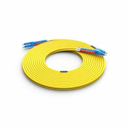 High Quality Lc Lc Sm Dx Ofc Patch Cord, Lc Upc Lc Upc Single Mode Os2 Duplex OFNR Riser 2mm Optical Fiber Patch Cable