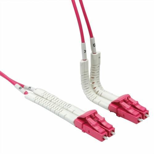 Lc Lc Om4 Mm Dx Flexboot Patch Cord, Lc Pc Lc Pc Om4 Multimode Duplex OFNP Plenum 2Mm Patch Cable JTPCLCPLCPOM4DXPVXXFBP Premium Patch Cables