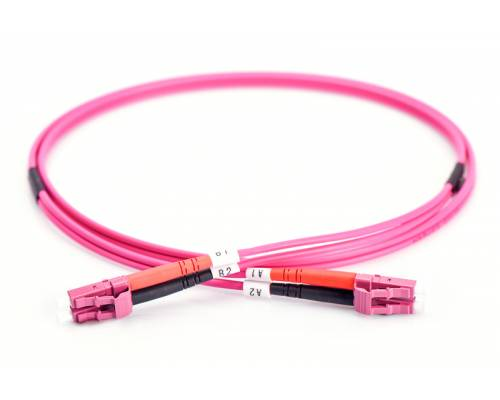 Lc upc lc upc multimode om4 duplex pvc 2mm patch cable or lc pc lc pc om4 mm dx ofc patch cord