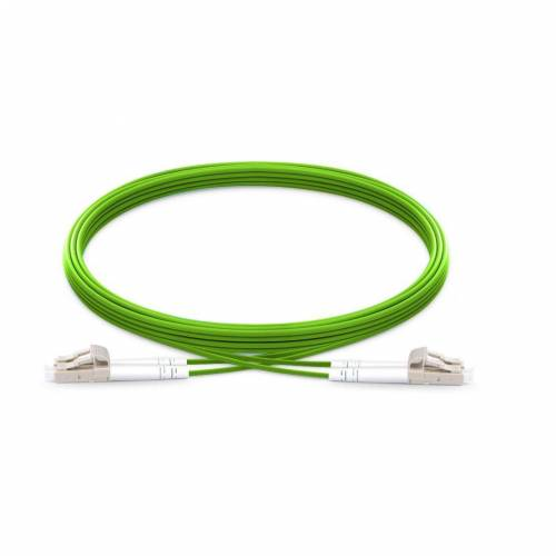 Lc Lc Om5 Mm Dx Ofc Patch Cord, Lc Pc Lc Pc Multimode Om5 Duplex OFNP Plenum 2Mm Green Color Optical Fiber Premium Quality Patch Cable JTPCLCPLCPOM5DXPVXXP Patch Cable