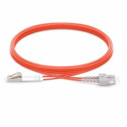 Sc upc lc upc multimode om1 duplex pvc 2mm optical fiber patch cable