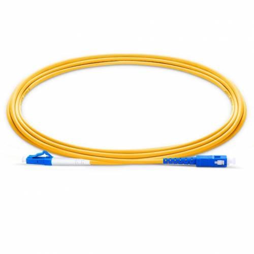 Lc Sc Sm Sx Ofc Patch Cord, Sc Upc Lc Upc Single Mode Os2 Simplex Lszh 2Mm Optical Fiber Premium Quality Patch Cable JTPCSCPLCPOS2SXLZXXP Patch Cable