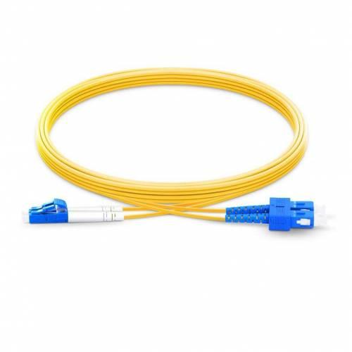 Sc Lc Sm Dx Ofc Patch Cord, Sc Upc Lc Upc Single Mode Os2 Duplex Lszh 2Mm Optical Fiber Premium Quality Patch Cable JTPCSCPLCPOS2DXLZXXP Patch Cable