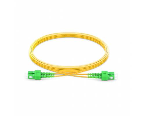 Sc apc sc apc single mode os2 duplex lszh 2mm optical fiber patch cable