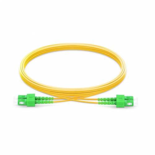 Sc apc sc apc single mode os2 duplex lszh 2mm optical fiber patch cable
