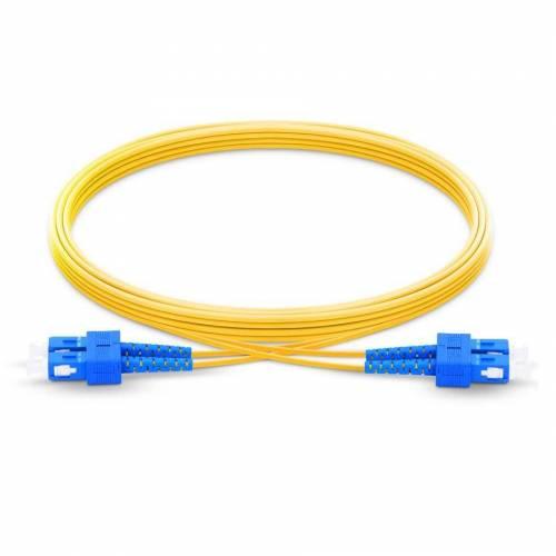 Sc upc sc upc single mode os2 duplex lszh 2mm optical fiber patch cable