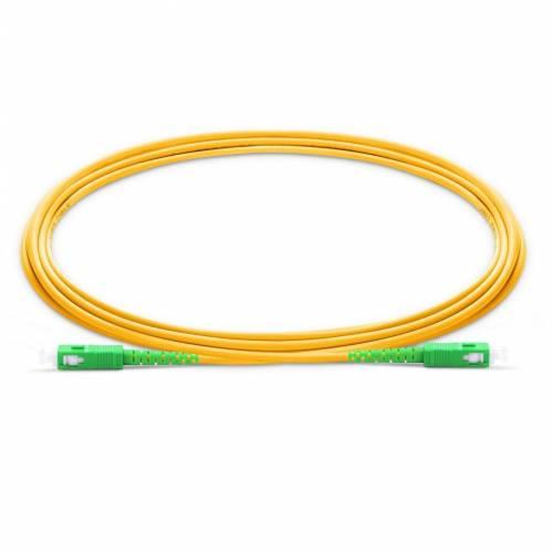 Sc Sc Sm Sx Ofc Patch Cord, Sc Apc Sc Apc Single Mode Os2 Simplex Lszh 2Mm Optical Fiber Premium Quality Patch Cable JTPCSCASCAOS2SXLZXXP Patch Cable