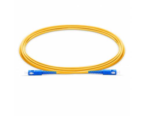 Sc upc sc upc single mode simplex lszh 2mm patch cable or sc pc sc pc sm sx ofc patch cord