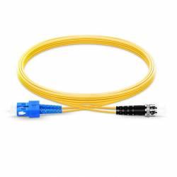 Sc St Sm Dx Ofc Patch Cord, Sc Upc St Upc Single Mode Os2 Duplex Lszh 2Mm Optical Fiber Premium Quality Patch Cable