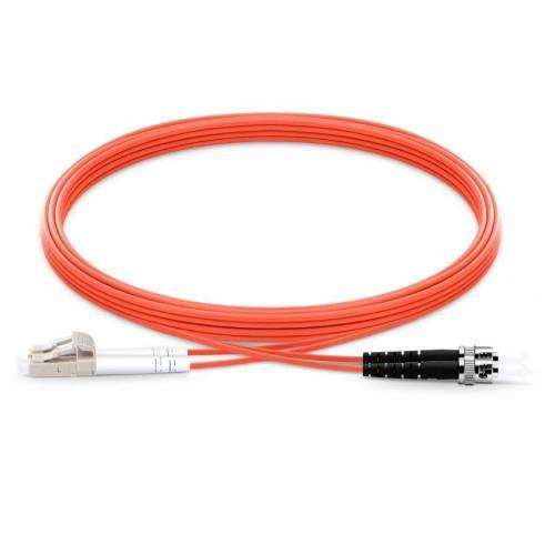 St Lc Mm Dx Ofc Patch Cord, St Pc Lc Pc Multimode Om1 Duplex Pvc 2Mm Optical Fiber Premium Quality Patch Cable JTPCSTPLCPOM1DXPVXXP Patch Cable