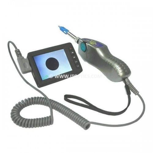 Fiber microscope with display
